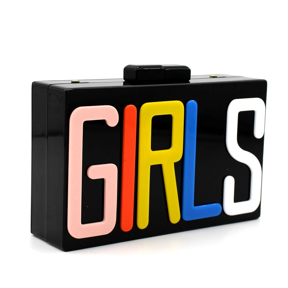 Las muchachas de la letra mujeres del diseño de noche de Color negro Metal embra