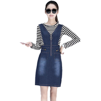 Autumn Long Sleeve Shirts And Denim Dress For Women Plus Size S 2XL Slim Women Clothing
