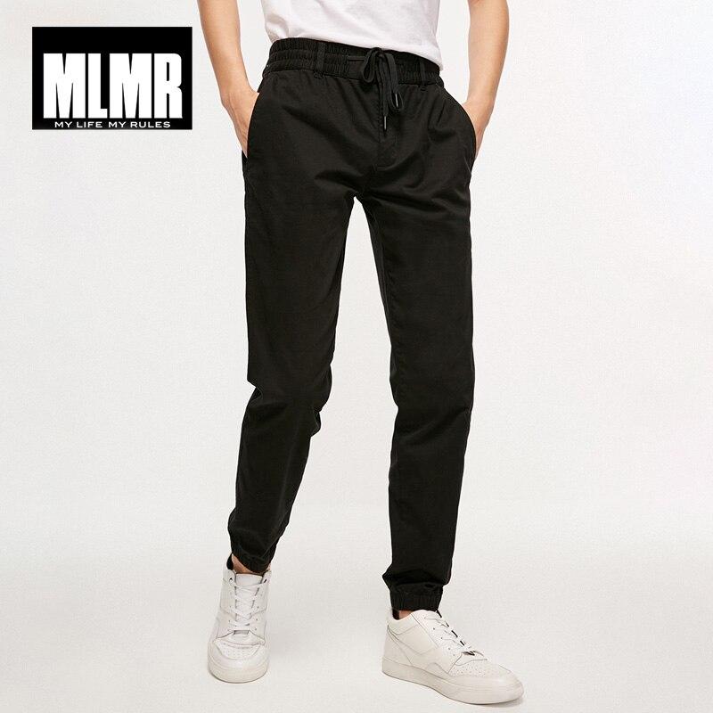MLMR Spring Autumn Men Pants Slight Stretch Elasticized Tapered Legs Sweatpants Mens Joggers Pants |218314511