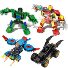 4pcs/lot Legoings Marvel Super Heroes Thanos Guardians Of Galaxy Spider Iron Man Avengers Thor Building Blocks Toys Figures