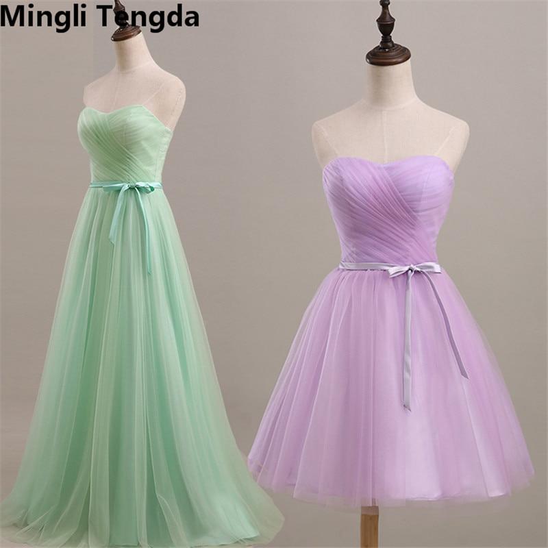 767bf4d266cb Mingli Tengda Green Purple Bridesmaid Dresses Long Tulle Bridesmaid Dress  Sweet Off the Shoulder Dress Simple Strapless Dresses