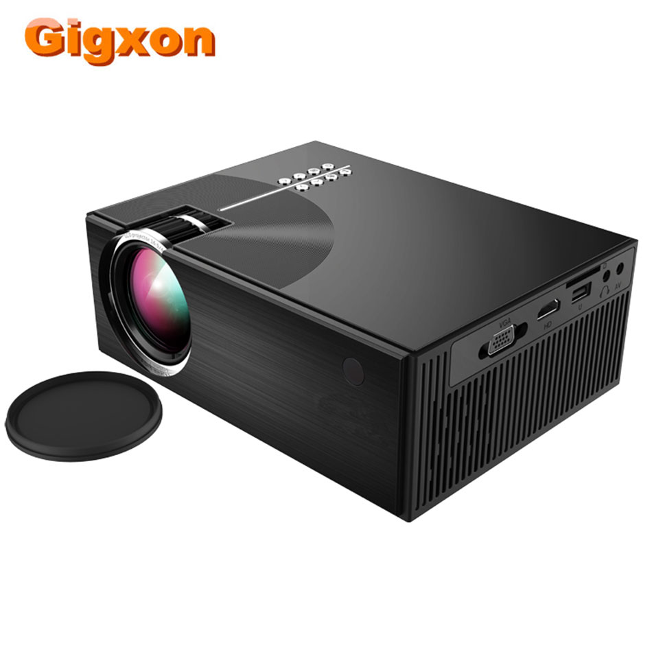 Gigxon G77 Projector LED 1200 lumen 3.5mm Audio 800x480 Pixels Max 1920x1080 HDMI USB Mini Projector Game Box Home Media Play|LCD Projectors| |  - title=