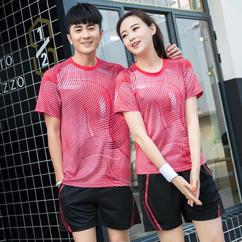 2 шт. Новый женский комплект теннисной Рубашки Рубашка для бадминтона одежда для настольного тенниса дышащая спортивная рубашка + теннисная рубашка, спортивная одежда