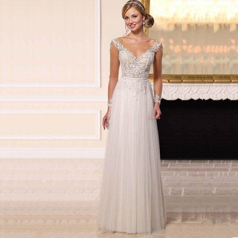 Vestidos Noiva 2016 Bohemian Style Wedding Dresses White