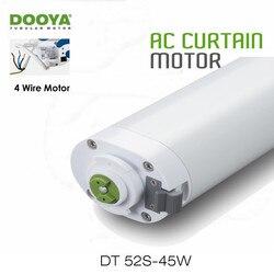 Dooya DT52S 45 واط محرك كهربائي للستائر ، 4 أسلاك قوية هندسة الطاقة المحرك لفتح إغلاق نافذة الستار المسار ، أتمتة المنزل
