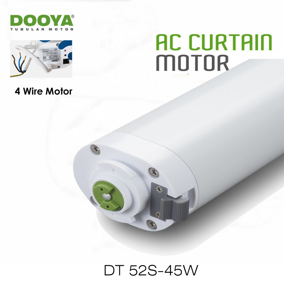 Dooya DT52S 45w Electric Curtain Motor,4 Wire Strong Power Engineering Motor for Open Close Window Curtain Track,Home Automation dooya dt52s electric curtain motor 220v open closing window curtain track motor smart home motorized 45w 75w curtain motor