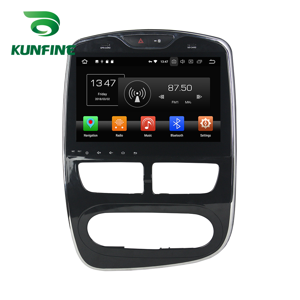 Octa Core 4 gb di RAM Android 8.0 Navigazione Dell'automobile DVD GPS Multimedia Player Car Stereo Deckless per Renault Clio 2016 radio digitale