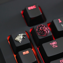 1 pcs Game of Thrones Zinc-aluminum key cap mechanical keyboard keycaps for personalization, for mechanical keyboard R4 height aluminum keycaps captain america design mechanical keyboard cover