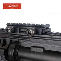 WIPSON 1 pieza 1/2 (0,5) ver-Thru AR plano-Top alto 8 ranura rizador Base Picatinny riel tejedor 20mm Airsoft caza montaje alcance caza