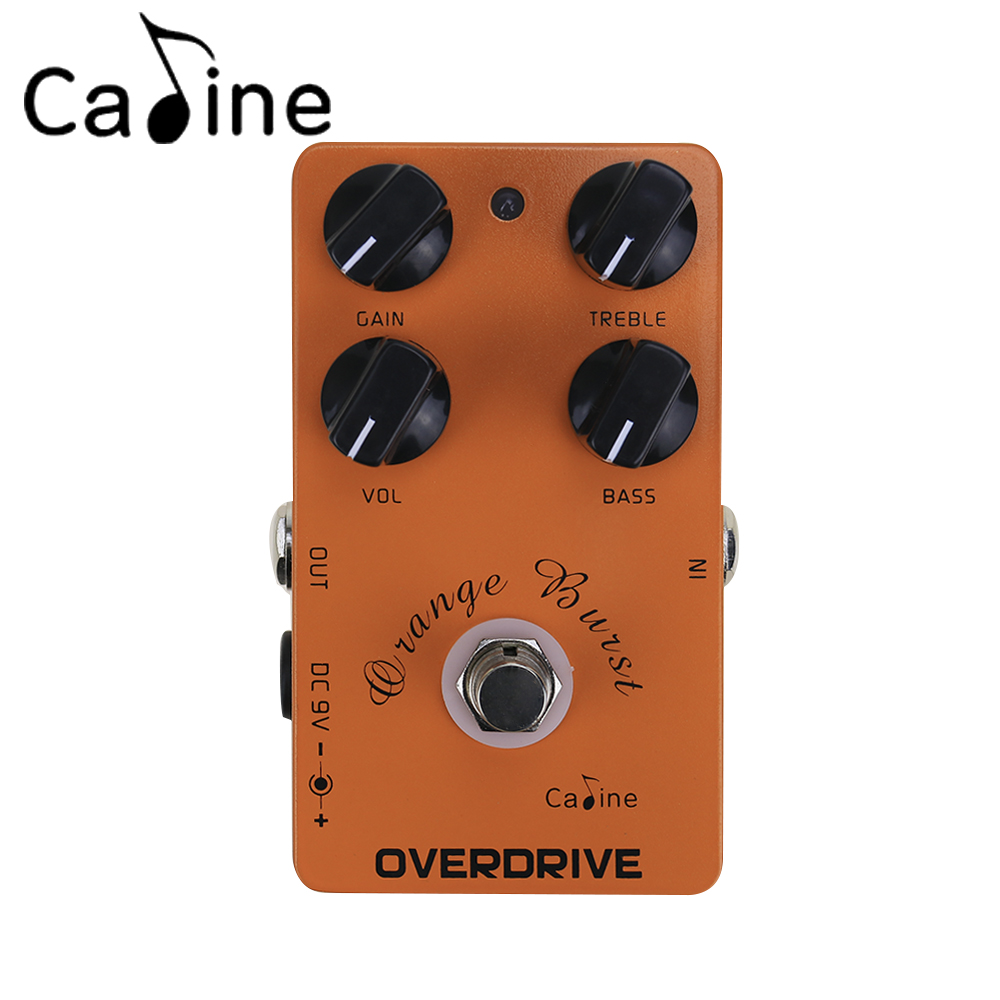 Caline CP-18 Overdrive Guitar Pedals True Bypass Guitar Amplifier OD Effect Pedal aroma adr 3 dumbler amp simulator guitar effect pedal mini single pedals with true bypass aluminium alloy guitar accessories