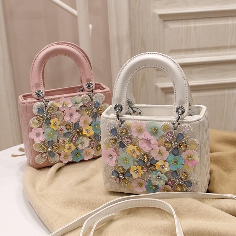Sacs à main printemps fleurs sacs à la main nouveau style de mode épaule personnalisé beau sac