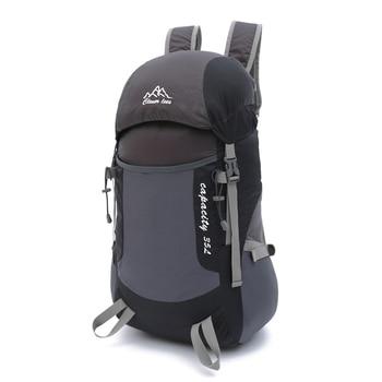 Jianfeng impermeable ultraligero viajes plegable mochila 35L de nylon ligero plegable al aire libre mochila plegable bolsa de los hombres de las mujeres
