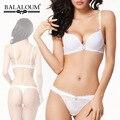 Push Up Bra Sexy Set mujeres blanco puro de la boda diamante de la ropa interior de la ropa interior Balaloum marca sujetadores de encaje de gama alta calidad Intimates VS