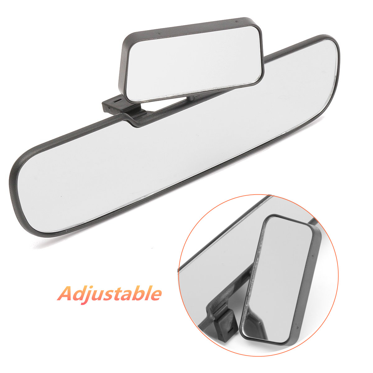 Universal Car Rear View Mirror Wide Angle Panoramic Anti-dazzling Interior Rearview Mirror Large Vision Curved Double Mirror