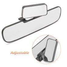 Универсальный автомобиль зеркало заднего вида Широкий формат панорамный анти-ослепительно подкладке Зеркало заднего вида большой видение изогнутые двойной зеркало