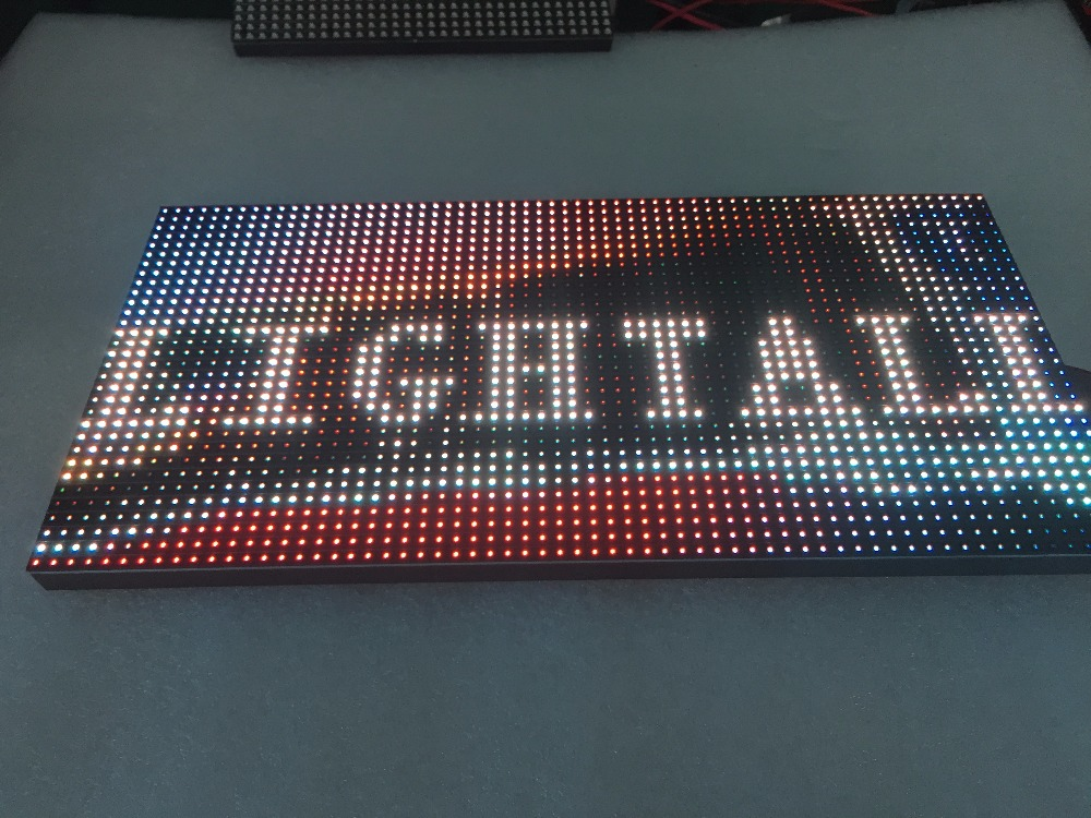 P10 Indoor 320x160mm 32x16 Pixels SMD3528 1/8 Scan RGB P10 Full Color LED Module High Quality P3 P4 P5 P6 P8 P10 LED Panel