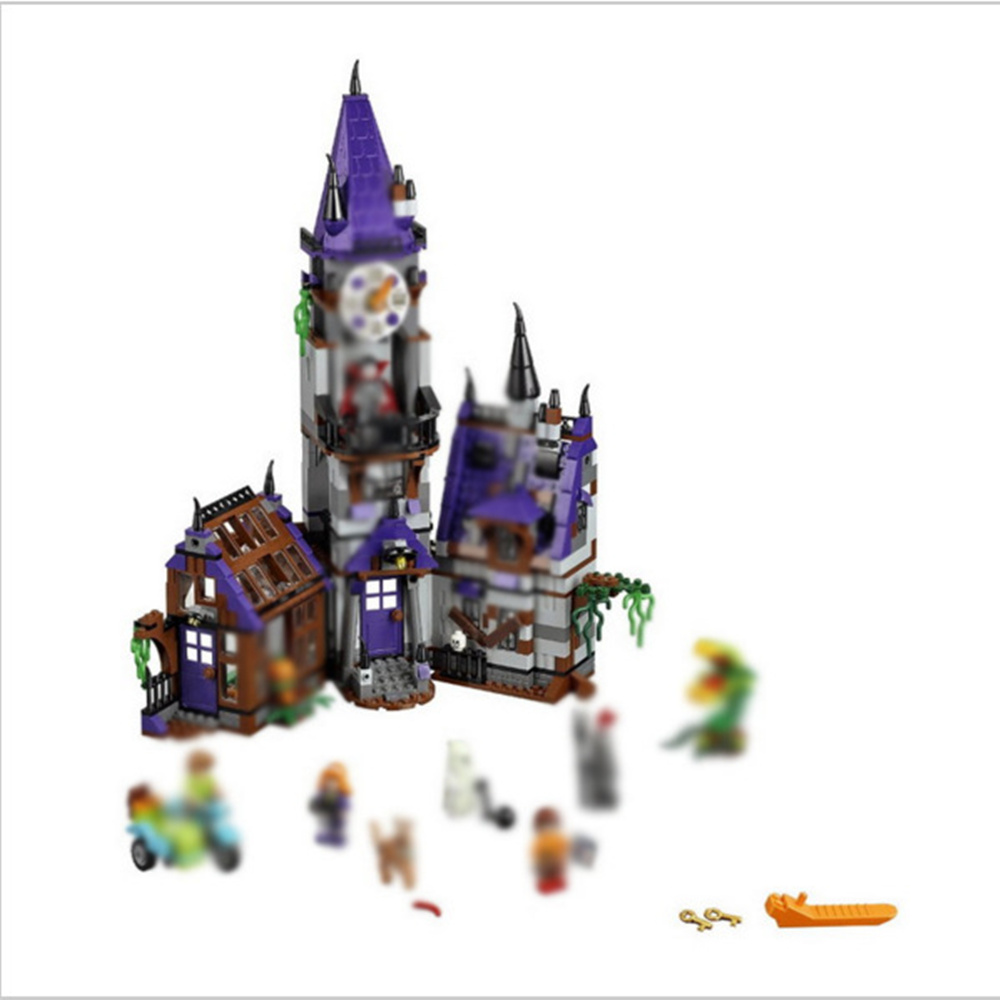 Lecgos Bela Scooby Doo Mystery Castle Courtyard  Building Blocks Compatible With Lecgos Kids Toy Xmas Gift 499pcs lecgos new star wars at dp building blocks toys gift rebels animated tv series compatible with lecgos