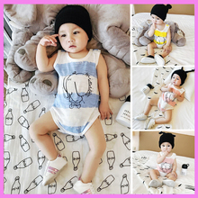Cotton Newborn Baby Boy Girl Summer Vest Striped Triangle