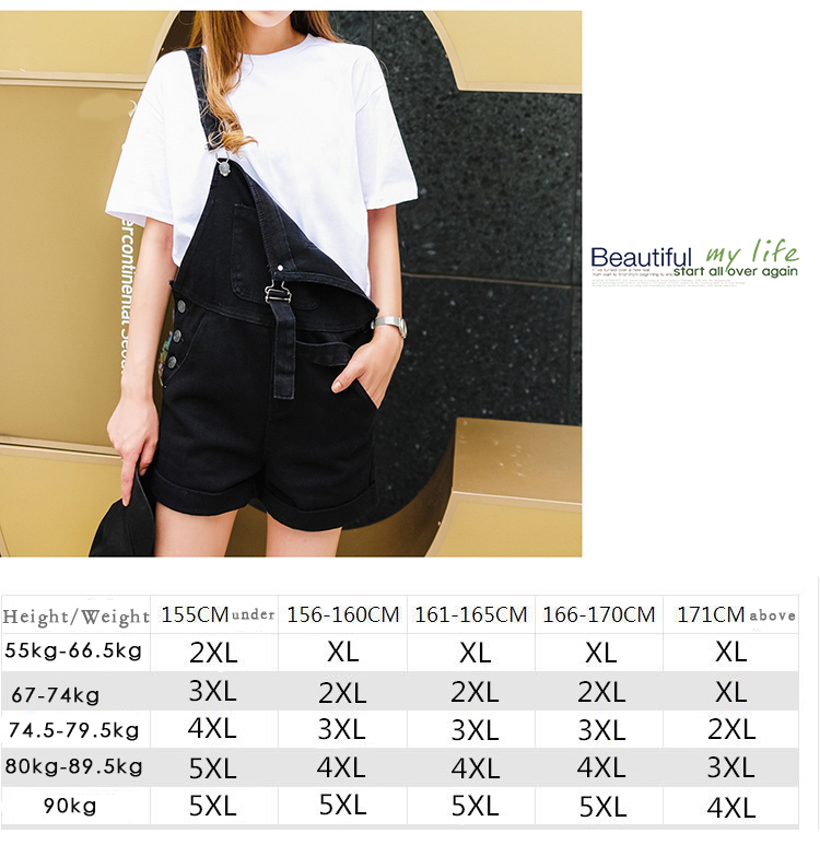 2018 summer large size women's black thin strap shorts fat mm cuff loose Korean plate stretch denim shorts (3)