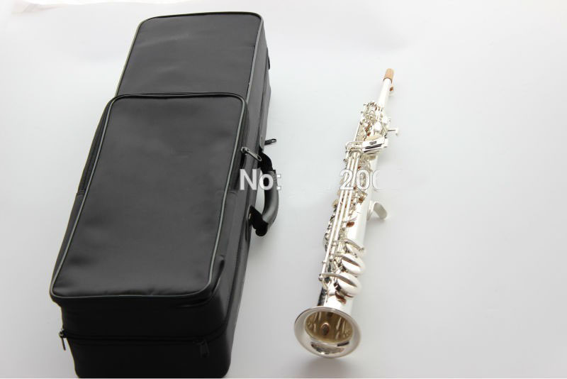 Brand 475 Soprano Saxophone Silvering B flat playing professional straight Top Musical Instruments with case,mouthpiece etc, 2018 france 54 saxophone soprano pitch professional b flat split saxophone mouthpiece musical instruments soprano free shipping