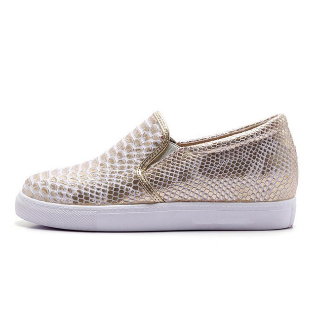 Women Flats Loafers Shoes Woman Brand Silver Thick Heels Platform Single Casual Comfort Ladies Lazy Shoes Flats Plus Size 34-43