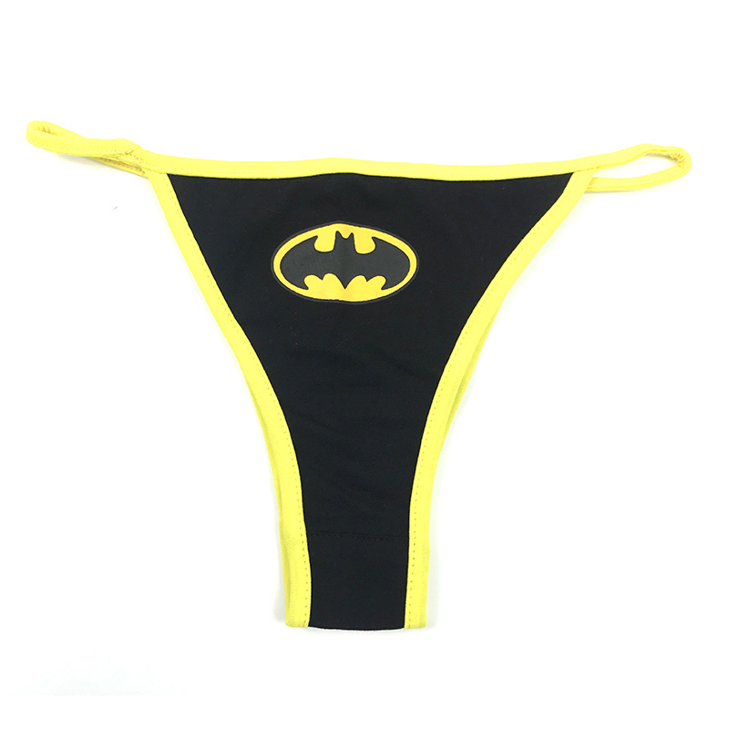Women Sexy Batman G-String Thongs Lingerie Superman Underwear Captain America Briefs Panties Knickers