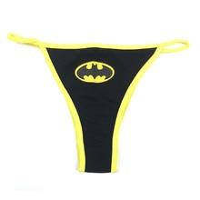 Women Sexy Batman G-String Thongs Lingerie Superman Underwear Captain America Briefs Panties Knickers