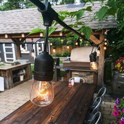 5 set Edison Globe Ball String Licht met Clear Lampen voor Indoor & Outdoor Tuin Patio Party Decoratie 110 ONS /220 V EU Plug