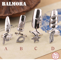 4 Styles New Hot 100 Pure 925 Sterling Silver Jewelry Fashion Fingernail Rings For Women Party