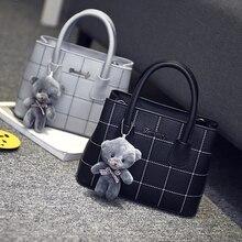 Freies verschiffen, 2017 neue frau trend handtaschen, freizeit umhängetasche, retro Koreanische version frauen tasche, mode bär ornamente klappe