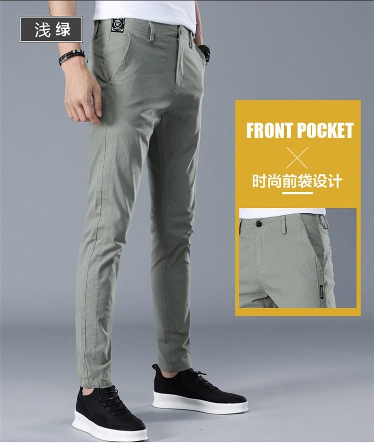 HTB1h RtbjnuK1RkSmFPq6AuzFXa0 Brand Men Pants Casual Mens Business Male Trousers Classics Mid weight Straight Full Length Fashion breathing Pant