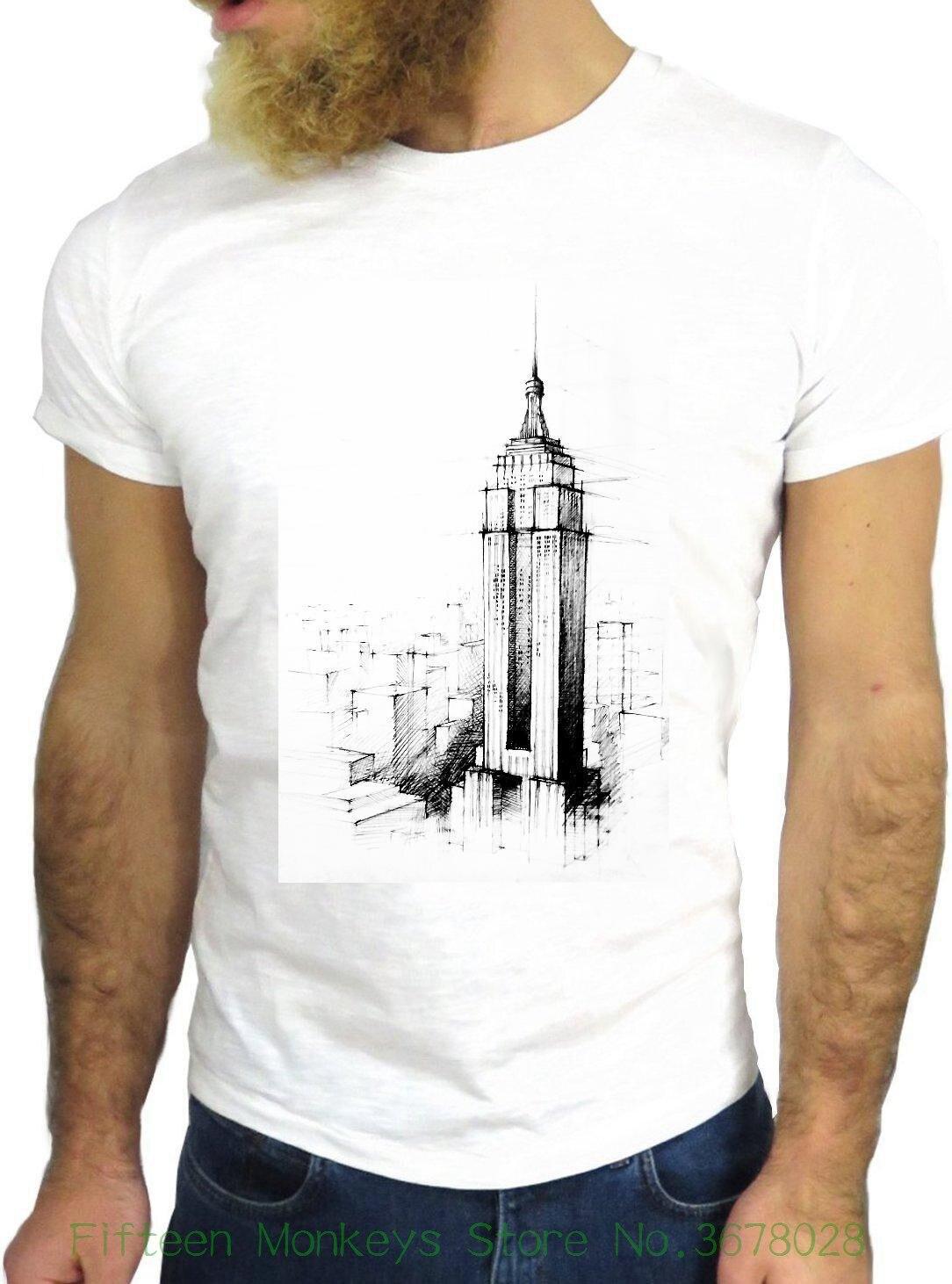 Clothing Tshirt T-shirt Jode Ggg24 Z0693 Skyscraper Fun Cool Vintage Rock Funny Fashion Cartoon