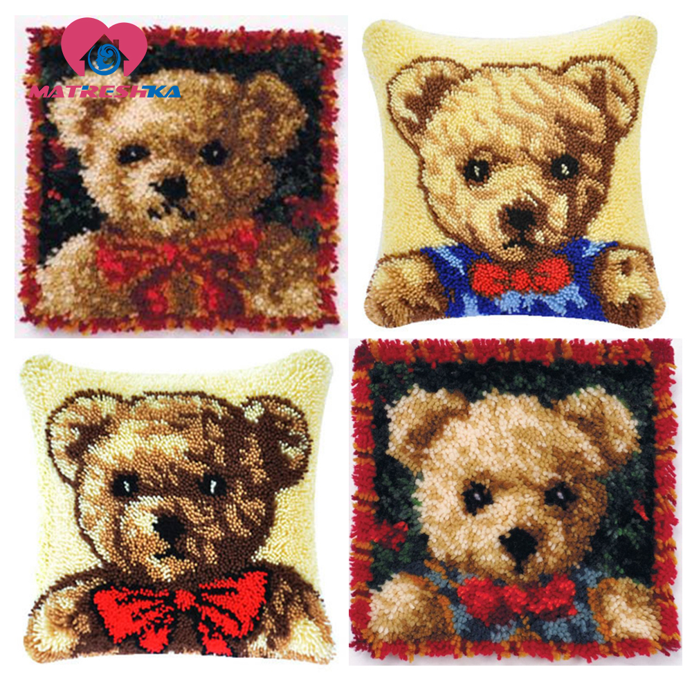 carpet embroidery cushions latch hook rugs do it yourself pillow cross stitch Foamiran for crafts tapestry kits diy pillowcase(China)