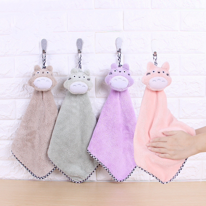 Cat Hand Towel Cartoon Towel For Kids Chidren Microfiber Absorbent Hand Dry Towel Kitchen Bathroom Soft Plush Dishcloths