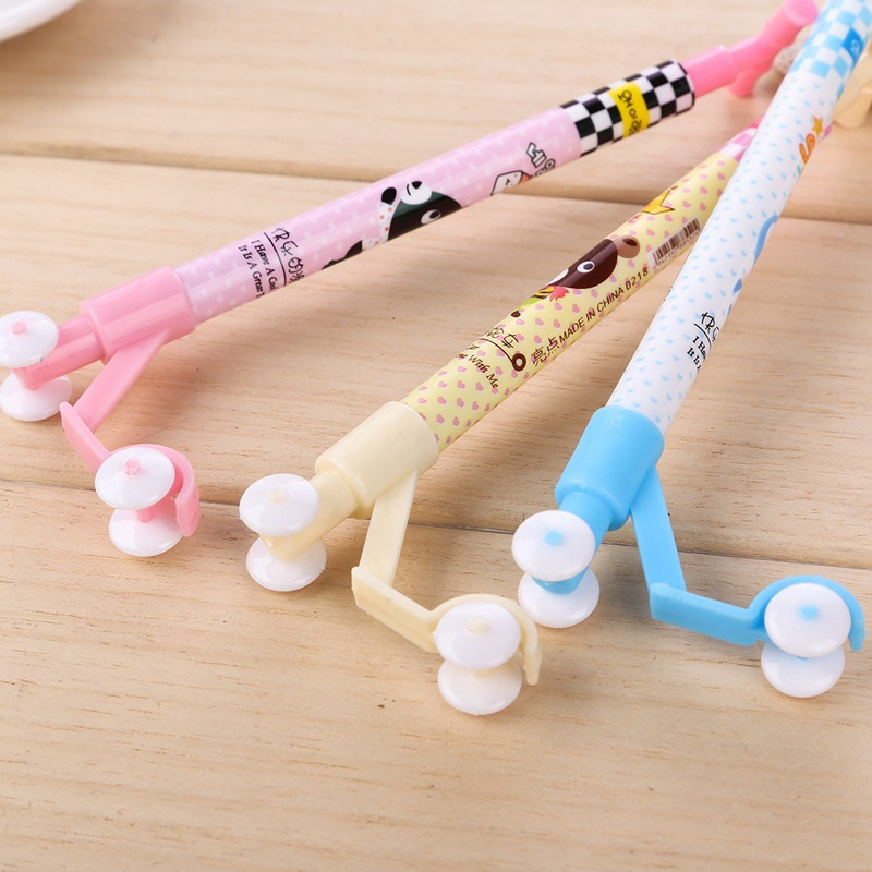Image 2 - 50pcs/set Korea funny stationery scooter cartoon ball point pen primary school students gifts creative office pens for writing-in Ballpoint Pens from Office & School Supplies