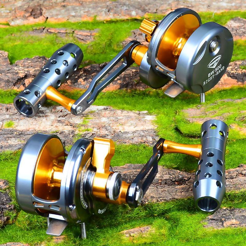 1px JIG Trolling Reel Aluminum CNC Machined 200 500 Series Fishing Reel Right or LeftHand Max