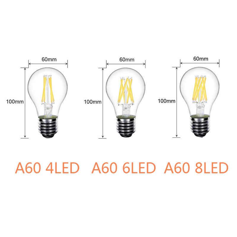 Antique LED bougie ampoule E14 E27 AC 220 V rétro verre Global Edison lampe Vintage C35 Filament lumière 360 degrés éclairage décoratif