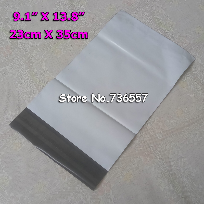Free Shipping 23cm X35 Cm Poly Mailer,mailing Bags,express Bags,courier Bags,express Envelope, Plastic Mailers Bag 100PCS White