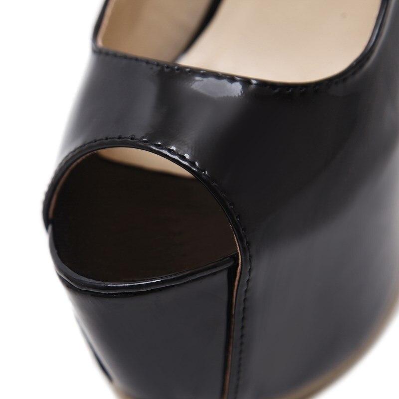Toe Peep Noir D'été À Sexy Imperméables Femmes Robe Mode Hauts Chaussures Talons Femme Haute 2018 Nous New Super Sandales Cut outs qtqwIRB