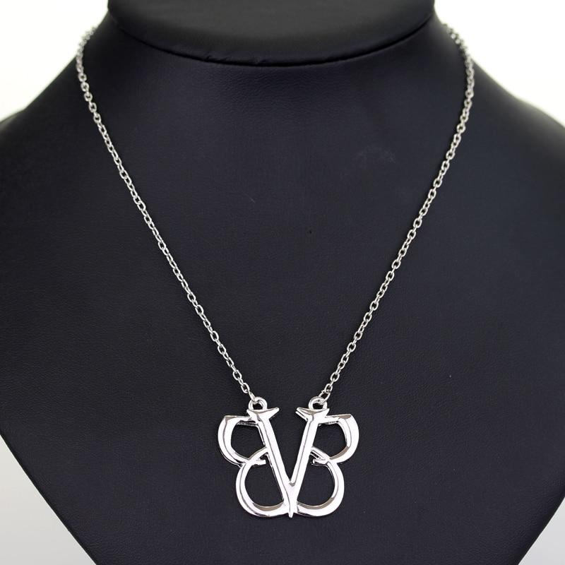 dongsheng Fashion Accessories Rock Band Black Veil Brides Pendant Necklace BVB Logo Punk Gothic Music Choker Necklace-30