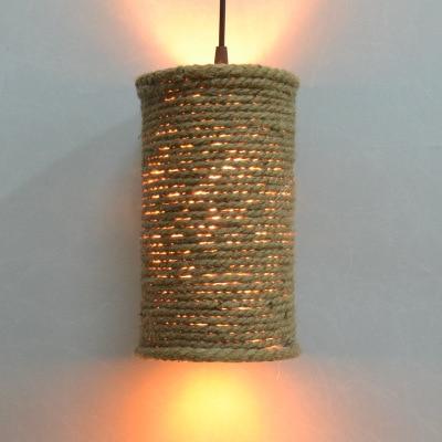 Retro Liny konopne wisiorek światła Loft Vintage Lampa ręcznie - Oświetlenie wewnętrzne - Zdjęcie 5