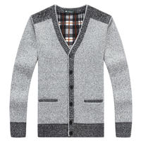2017 New Mens Sweater Cardigans Simple Style Cotton Knitting Spring Autumn Winter Sweater Coat Male V