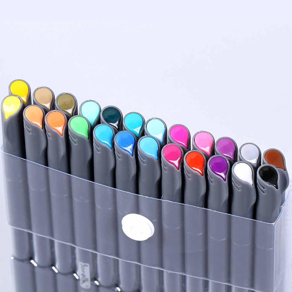 Художественный маркер цвета ручка 0,4 мм эскизные канцелярские принадлежности для детей школьников мультифучционная живопись Рисование ремесла граффити