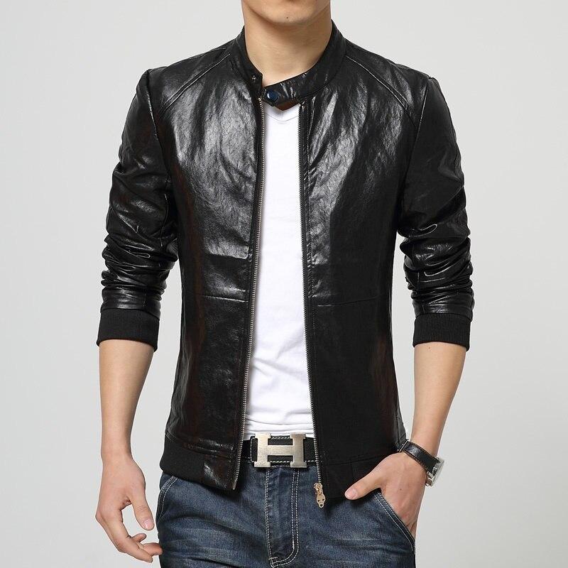 Occasionnel Coréenne Noir Mode vent Coupe Nice Nouvelle Vestes De Mince Hommes Cuir Geek En Automne Manteau Veste XN8PO0wnk