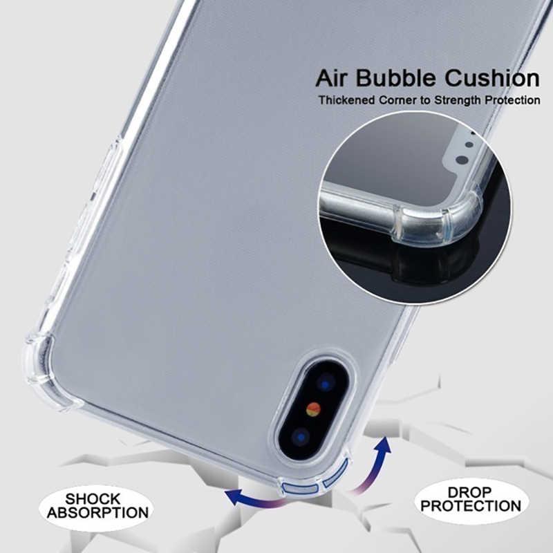 Iphone 7 8 プラス 6s 透明電話ケース Iphone X XS 6 6s 7 7 プラス 8 8 プラスカラーショルダーバッグエアバッグドロップカバーケース