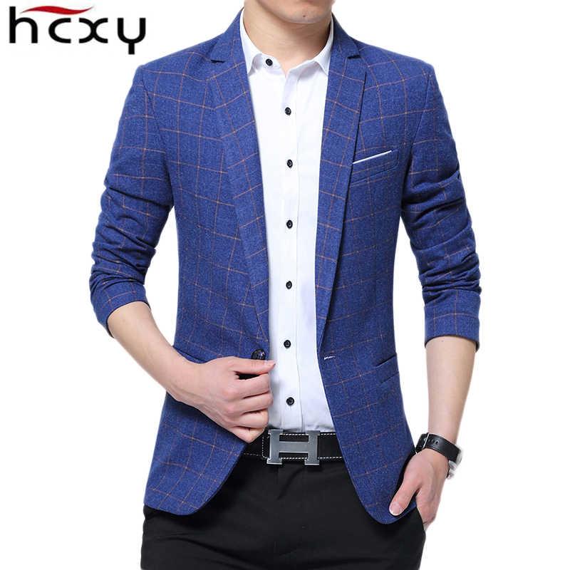 HCXY 2019 новый роскошный мужской блейзер сезон весна осень модный бренд Хлопок Slim Fit Мужской Костюмный пиджак Jaqueta мужские пиджаки Мужские 5XL
