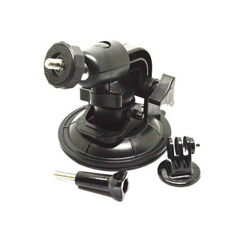 For Gopro Accessories 9cm Powerful <font><b>Suction</b></font> <font><b>Cup</b></font> <font><b>Rotatable</b></font> Car <font><b>Holder</b></font> <font><b>Tripod</b></font> <font><b>Mount</b></font> Adapter for Gopro Hero 4 3+ 3 SJCAM Xiaomi yi