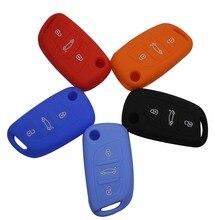 4 Цветов Автомобилей Стайлинг 2013 Силиконовый Ключ Чехол 3 Кнопки для Citroen C4 C5 DS4 для Peugeot Складной Ключ Случае Ключ дополнительно