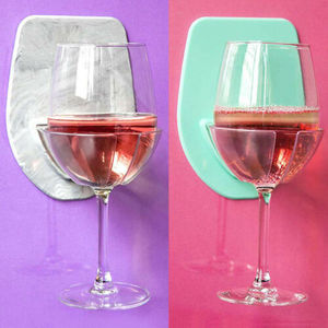 Image 2 - 1pcバス & シャワーポータブル吸引カップホルダーキャディービールワイン缶ガラスクリア