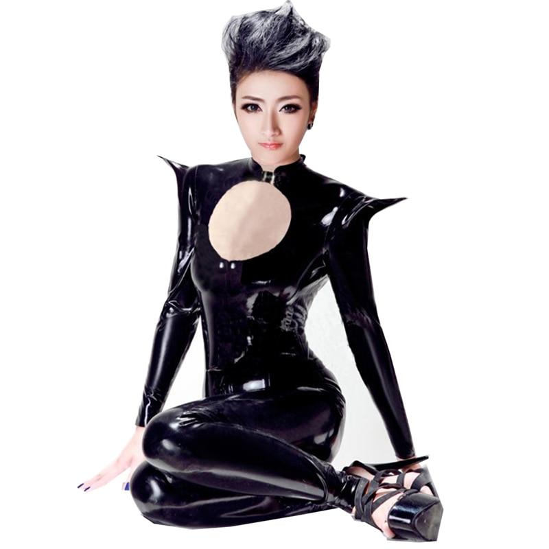 Dynamisch Plus Size 5xl Nieuwe Kat Vrouwen Black Faux Leather Catsuit Sexy Catwoman Kostuum Vrouwelijke Warrior Cosplay Jumpsuit Halloween